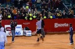 网球比赛-格里戈尔・季米特洛夫对Sergiy Stakhovsky 图库摄影