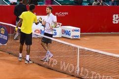 网球比赛- Gael Monfils对保罗亨利马蒂 库存照片