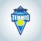 网球炫耀商标,标签,象征 网球隔绝了徽章商标模板,体育T恤杉图表 俱乐部象征,学院同盟商标 库存例证