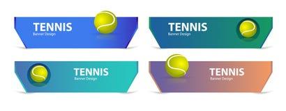 网球的明亮的设计 炫耀横幅模板 图库摄影