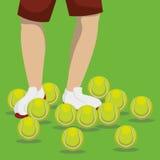网球设计 免版税库存照片