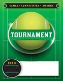 网球赛模板例证 免版税库存照片