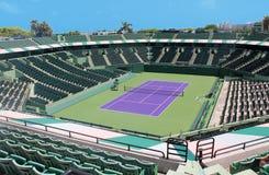 网球露营地 库存照片