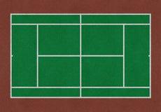 网球领域绿色褐色 库存图片