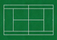网球领域绿色 免版税库存照片