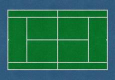 网球领域绿色 免版税库存图片
