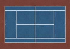 网球领域蓝色褐色 免版税库存图片