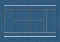 网球领域蓝色 库存照片