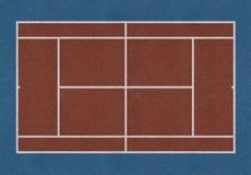 网球领域褐色 免版税库存照片