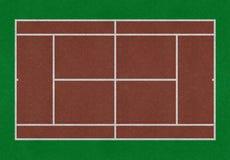 网球领域 库存照片