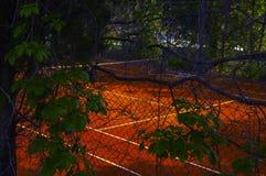 网球领域 免版税库存照片