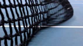 网球,蓝色,白色和黑颜色滤网  股票录像