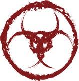 网用法的血淋淋的biohazzard标记 免版税库存照片