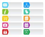 网的五颜六色的按钮 库存图片