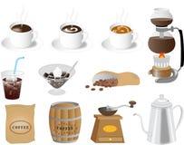 网的咖啡材料 免版税库存图片