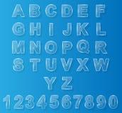 网的字母表现代玻璃 免版税库存照片
