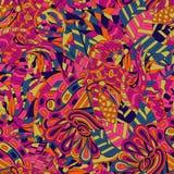 网眼图案mehndi种族装饰品 冷漠谨慎镇定的主题,能用的乱画的五颜六色的和谐设计 向量 库存图片