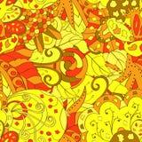 网眼图案mehndi种族装饰品 冷漠谨慎镇定的主题,能用的乱画的五颜六色的和谐设计 向量 图库摄影