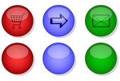 网站互联网按钮集 免版税库存照片