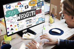 网站互联网主页浏览器HTML概念 图库摄影