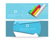 网站倒栽跳水或横幅设置了与事务infographic 免版税库存照片