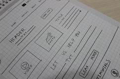 网站剪影 免版税图库摄影
