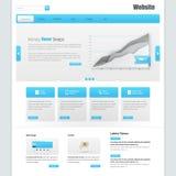 网站接口模板传染媒介设计 免版税库存图片