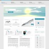 网站接口模板设计 向量 免版税图库摄影