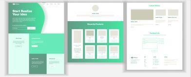 网站模板传染媒介 页企业背景 着陆网页 网络设计和发展 现金合同 事务 皇族释放例证