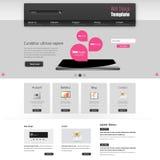 网站模板传染媒介设计,现代干净的样式 免版税库存图片