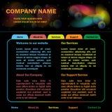 网站模板设计 免版税库存照片