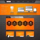 网站模板设计EPS 10 图库摄影