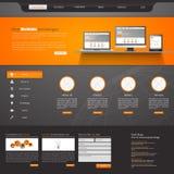 网站模板设计EPS 10 库存图片