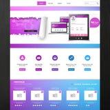 网站模板- eps10传染媒介设计 免版税库存照片