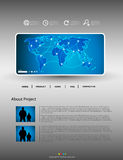 网站现代模板 向量例证