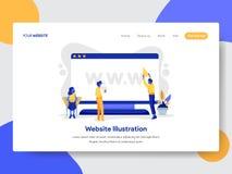 网站登陆的页模板桌面例证概念的 网页设计的现代平的设计观念 向量例证