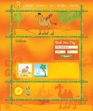 网站的热带旅行概念 免版税库存照片