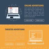 网站的被瞄准的广告横幅模板vecto的 免版税图库摄影