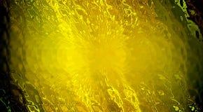 网站的金黄背景 光的反射在清楚的水的 免版税库存照片