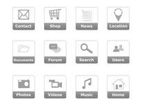 网站菜单的按钮 免版税图库摄影