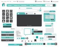 网站设计元素 免版税图库摄影