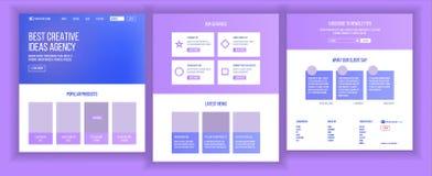 网站设计模板传染媒介 企业着陆 网页 IT技术 优化进展 广告Aanalysis 皇族释放例证
