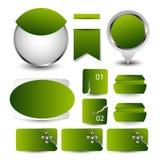 网站设计模板元素 向量 EPS10 免版税库存图片