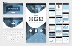 网站设计模板和接口元素 库存图片