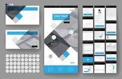 网站设计模板和接口元素 库存照片