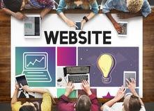 网站设计UI软件媒介万维网概念 免版税库存图片
