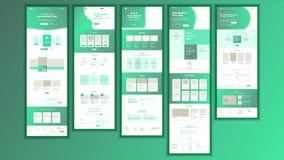 网站页传染媒介 企业网站 网页 登陆的设计站点计划模板 产品证明书 公司 皇族释放例证