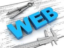 网站建筑 免版税图库摄影