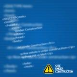网站建设中设计模板 免版税库存图片