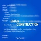 网站建设中设计模板 免版税图库摄影